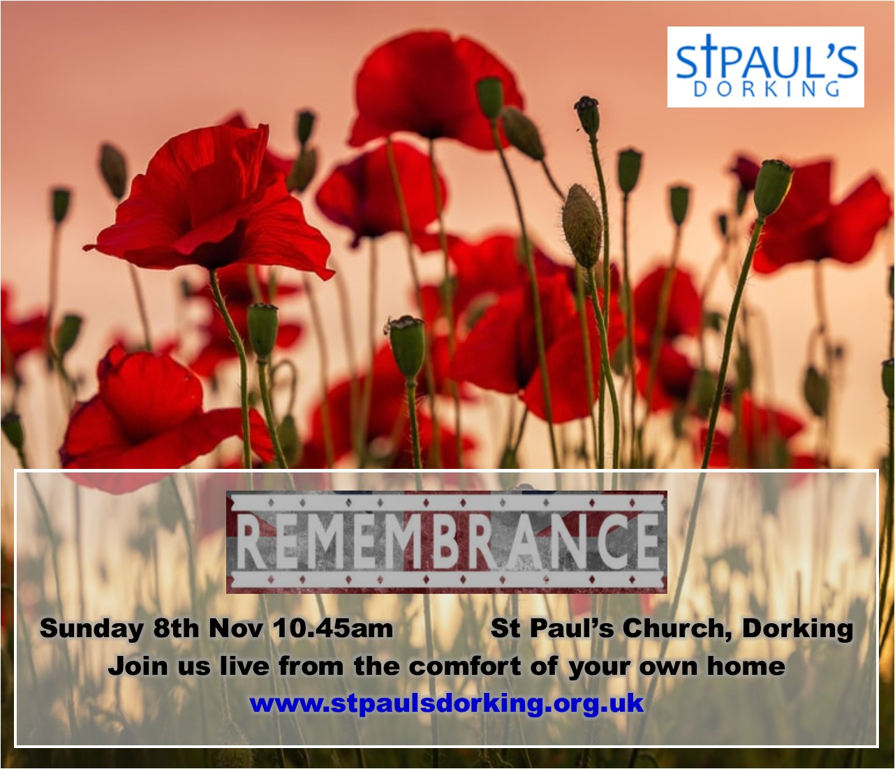 Remembrance 2020 Join us live