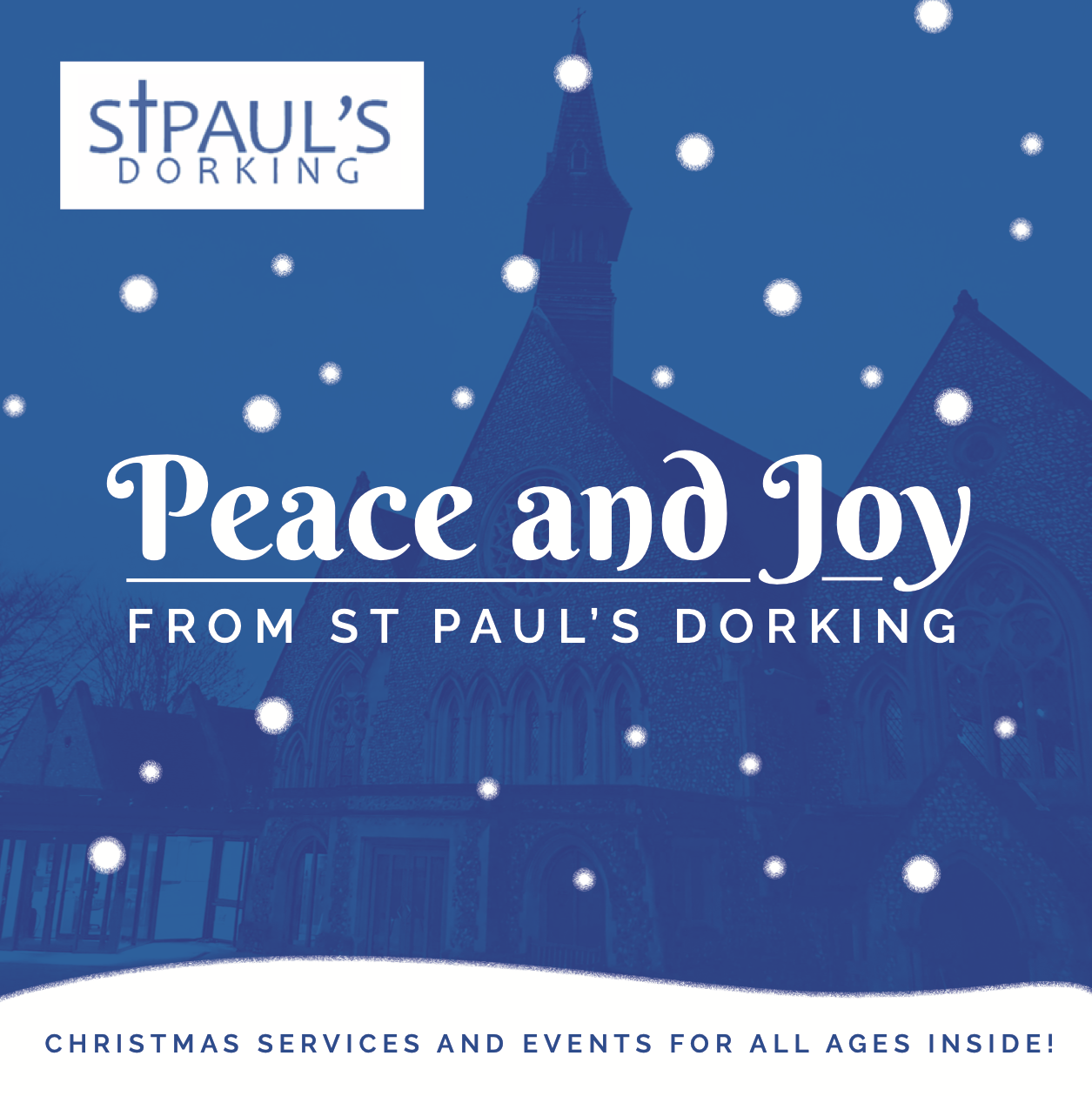 St Pauls Dorking Christmas Car